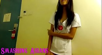 very hot filipina teen gags and sucks a mean cock