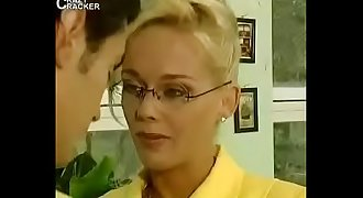 Sexy teacher fucked by young and old man Threesome