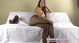 Pantyhose Female domination humiliates you and tells you what to do and say